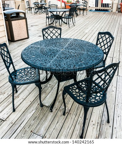 Old fashioned tables and chairs 47