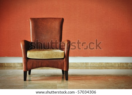 Old fashioned chair - stock photo