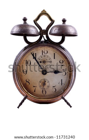 old-fashioned clock - stock photo