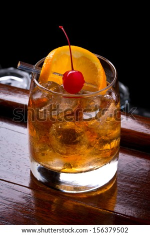 Alcoholic Drink Called Old Fashioned