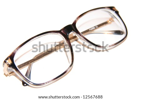 Old-fashioned eyeglasses