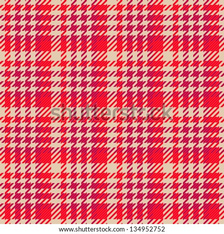 Old fashioned gingham check pattern in red color for scrapbooks, restaurants, fabrics, arts, crafts and decorating. Pattern swatch will seamlessly fill any shape. - stock photo