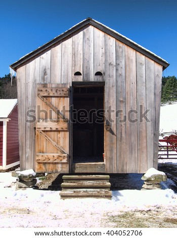 old fashioned granary - stock photo