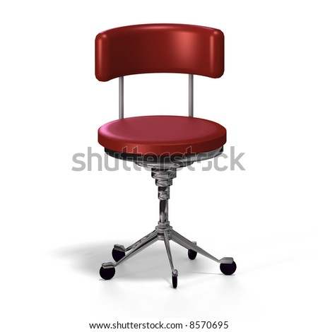 old fashioned office chair or from medical practise - with Clipping Path - stock photo
