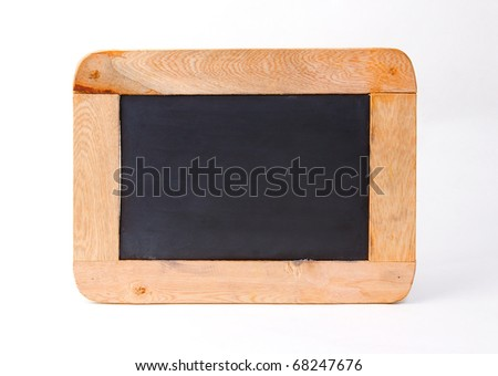 Old fashioned style black board isolated - stock photo