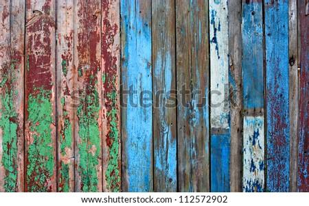 Old fence background - stock photo