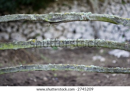 Old fence on horizontal format - stock photo