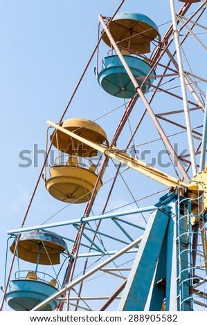 old Ferris wheel - stock photo