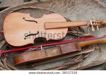 Old Fiddle - stock photo