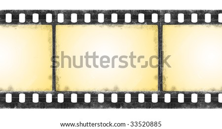 Old film frames in grunge style