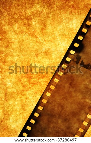 Old film strip, may be used as background - stock photo