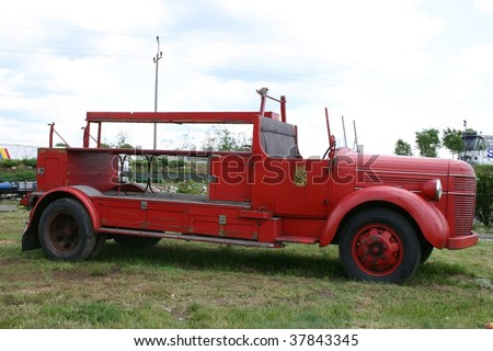 old firetruck - stock photo