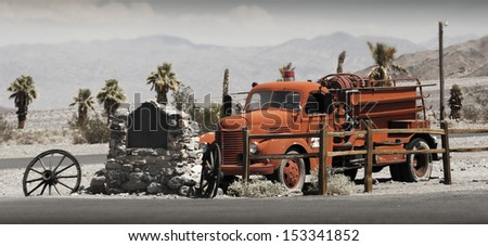 Old firetruck at Stovepipe Wells, Death Valley