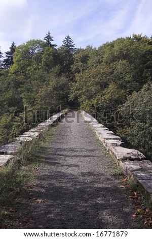 old flyover of  narrow-gauge railway - poland - srebrna gora