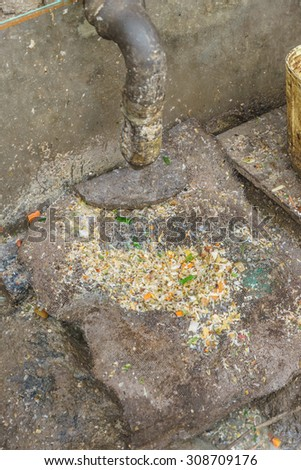 old food sewerage filter - stock photo