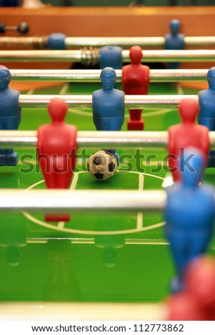 old football (soccer) table game