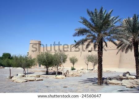 Old fort in the center of Riyadh (Saudi Arabia) - stock photo