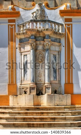 Old fountain in Moura, Alentejo