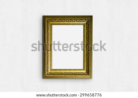 Old frame with wall