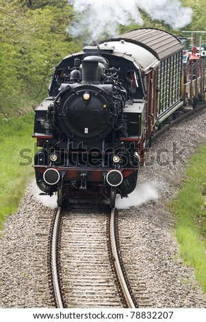 old freight train - stock photo