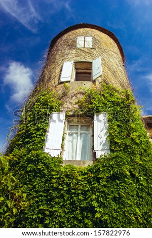 old french house - stock photo
