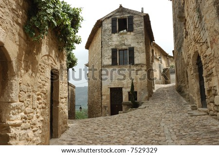 Old French Mountain Village. - stock photo