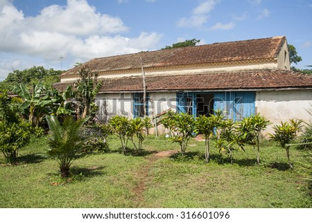 Old French plantation in Cuba. - stock photo