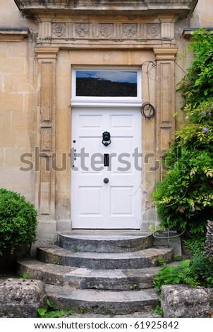 Old Front Door - stock photo