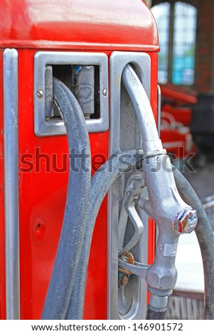 Old fuel pump - stock photo