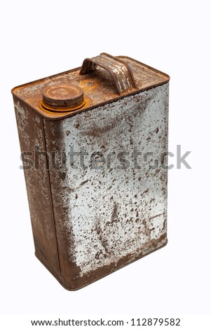 old gallons of oil - stock photo