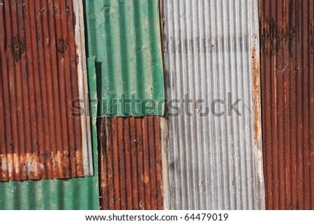 old galvanized iron texture - stock photo