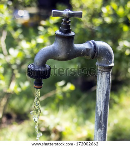 Illusion Magic Faucet Flowing Water Stock Photo 123098122