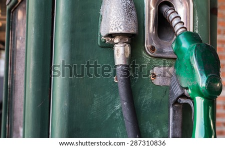 old Gas station pump petrol - stock photo