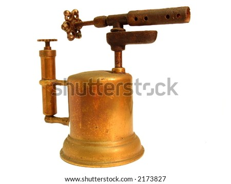 Old gasoline lamp - stock photo