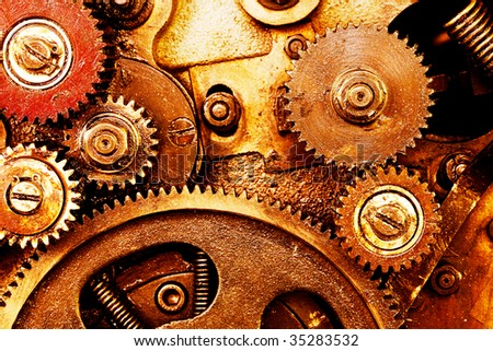 old gearing - stock photo