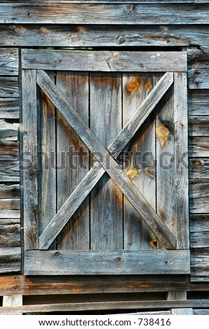 Old Georgia Barn Hay Loft Door Stock Photo