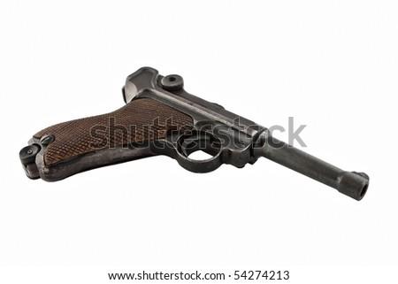 Old German WW2 pistol! - stock photo