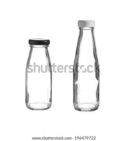 old glass bottle on white background - stock photo