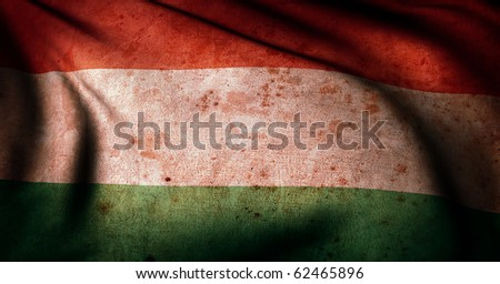 Old Glory Collection Hungary flag - stock photo