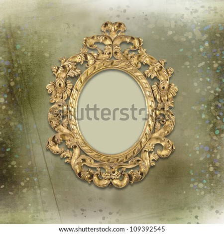 Old Gold Frames Victorian Style On Stock Illustration 109392545 ...