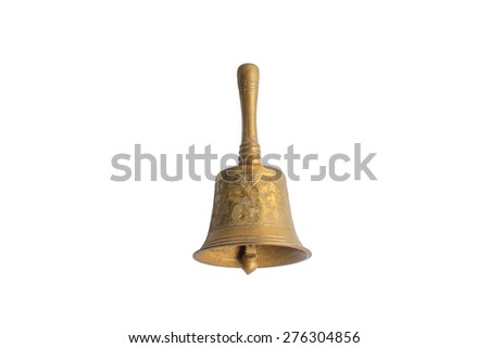 old gold metal bell - stock photo