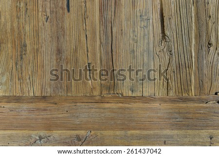Old golden cedar background patina - stock photo