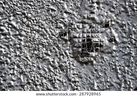 Old graphite and silver wall - grunge texture and background