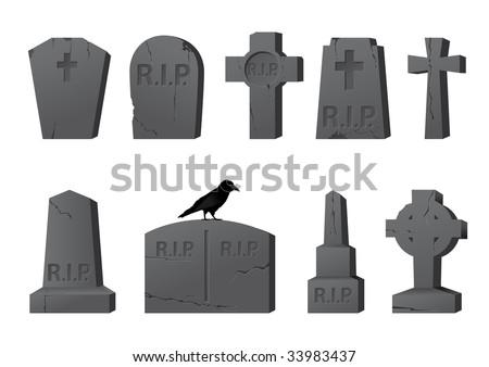 Old gravestones - stock photo