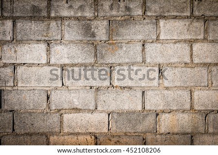 Old Gray concrete construction blocks background