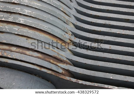 old gray metal construction background