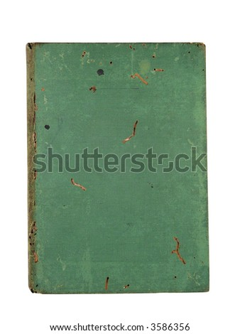 old green book cover - stock photo