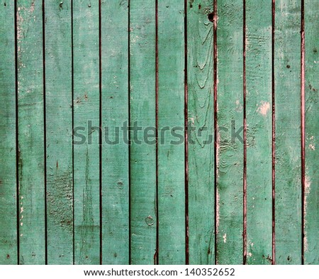 old green painted wooden planks texture - stock photo