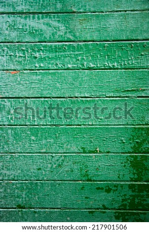 Old green wooden board background - stock photo