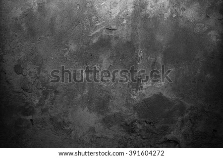 Old grey background. Black background. Grunge wall - stock photo